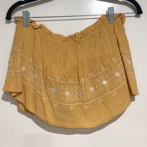 Yellow crop top! NWT!